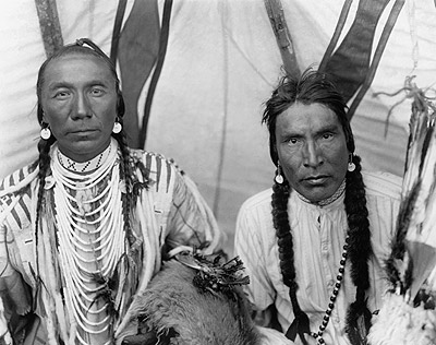 Blackfeet Men Dressing for Ceremonies, photograph courtesy of the National Museum of the American Indian, Smithsonian Institution