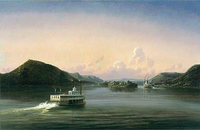 Ferdinand Richardt, View of the Mississippi River, 1857, oil on canvas, Minnesota Historical Society, St. Paul