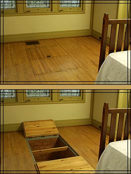Purcell-Cutts Tour > Master Bedroom Suite - Trap doors reveal cedar ...