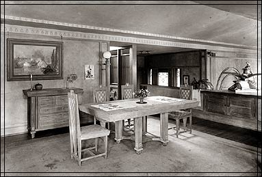 Dining Room With Hanna Furniture Suite, 1915.